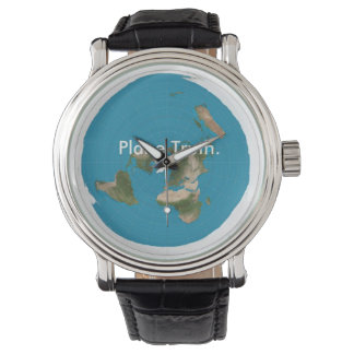 Azimuthal Equidistant Flat Earth Timekeeping Piece Wrist Watch