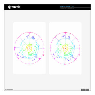 Azimuthal Equidistant Map Zetetic Decal For Kindle Fire