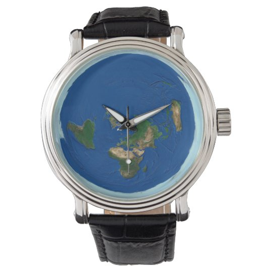 Azimuthal equidistant world map flat earth watch zazzle azimuthal equidistant world map flat earth watch gumiabroncs Gallery