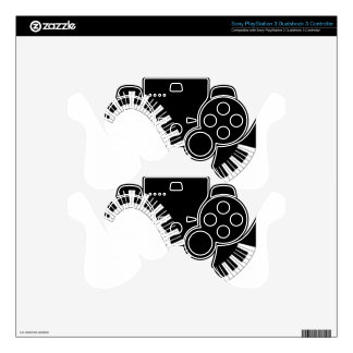 Aziza Keyboard Instruments Skins For PS3 Controllers