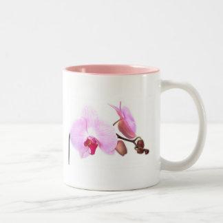 Aziza Orchid Blossoms Two-Tone Coffee Mug