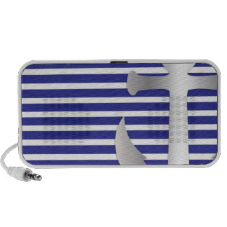 Aziza Stripes Marine Blue Seaman Portable Speaker