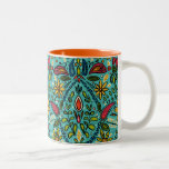 aziza turquoise Two-Tone coffee mug