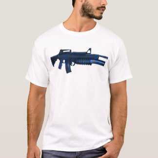 Azmodeus Camo M16 azul, camiseta