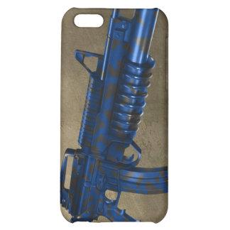 Azmodeus Camo M16 azul, caso del iPhone 4