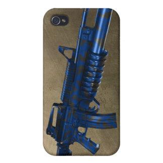 Azmodeus Camo M16 azul, caso del iPhone 4 iPhone 4 Coberturas