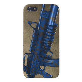 Azmodeus Camo M16 azul, caso del iPhone 4 iPhone 5 Fundas