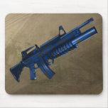 Azmodeus Camo M16 azul, cojín de ratón Tapete De Ratón