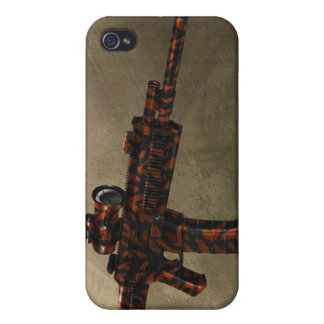 Azmodeus Red Camo ACR Rifle, iPhone 4 Case