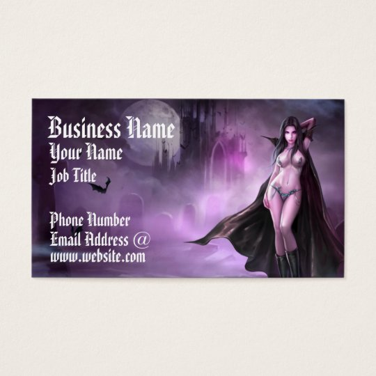 Azmodeus Vampire Queen, Business Card