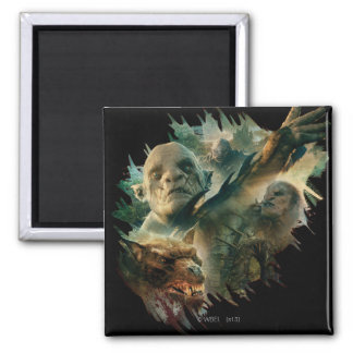 Azog, Narzug, and Bolg Graphic 2 Inch Square Magnet