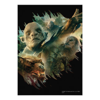Azog, Narzug, and Bolg Graphic Personalized Invitations