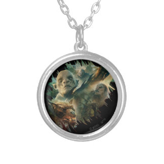 Azog, Narzug, and Bolg Graphic Round Pendant Necklace