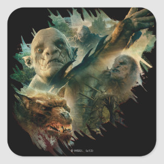 Azog, Narzug, and Bolg Graphic Square Sticker
