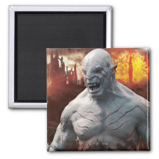 Azog & Orcs Silhouette Graphic 2 Inch Square Magnet
