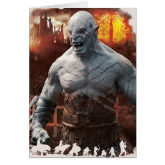 Azog & Orcs Silhouette Graphic Greeting Card