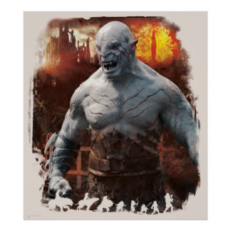 Azog & Orcs Silhouette Graphic Poster