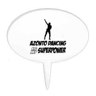 Azonto Dance Superpower Designs Cake Topper