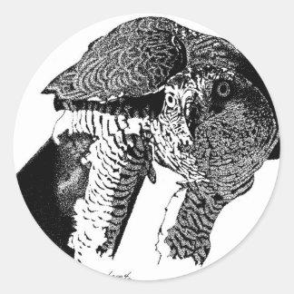 Azor septentrional pegatina redonda