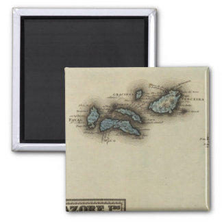 Azore Islands Atlas Map Magnet