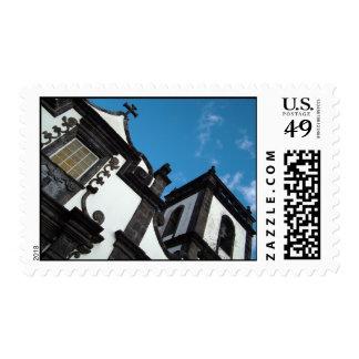 Azorean architecture postage stamp