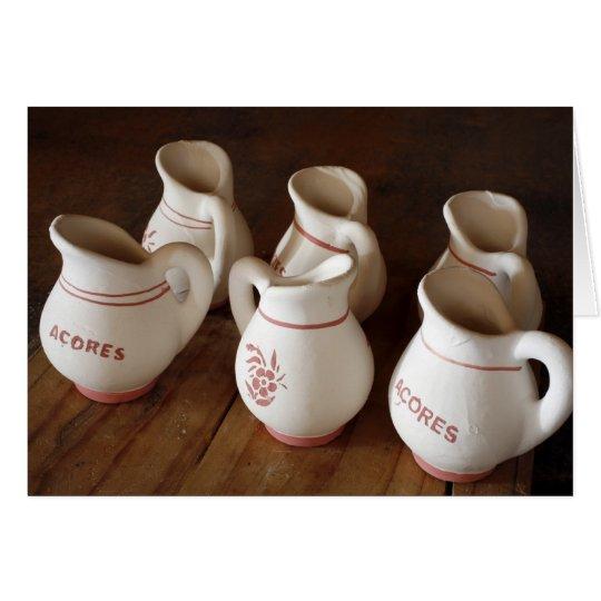 Azorean ceramic pitchers card