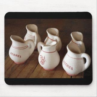 Azorean ceramic pitchers mouse pad