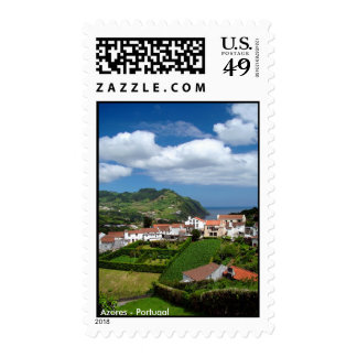 Azorean landscape postage