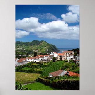 Azorean landscape poster