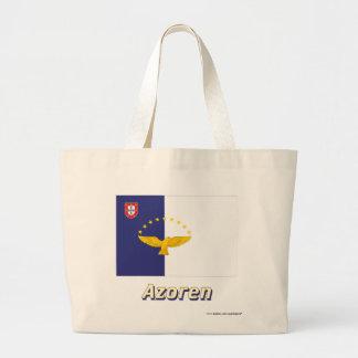 Azoren Flagge mit Namen Jumbo Tote Bag