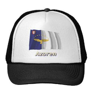 Azoren Fliegende Flagge mit Namen Trucker Hat