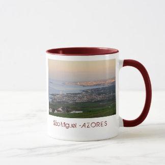 Azores at dawn mug