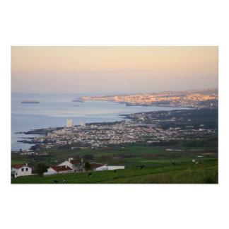 Azores at dawn photograph