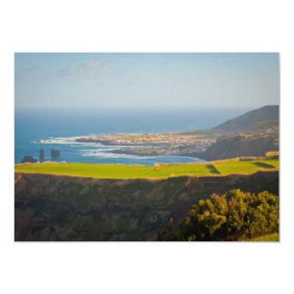 Azores coastal landscape card