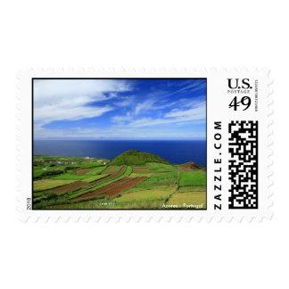 Azores coastal landscape postage
