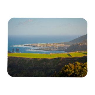 Azores coastal landscape rectangular photo magnet