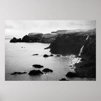 Azores coastal landscape print
