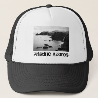 Azores coastal landscape trucker hat