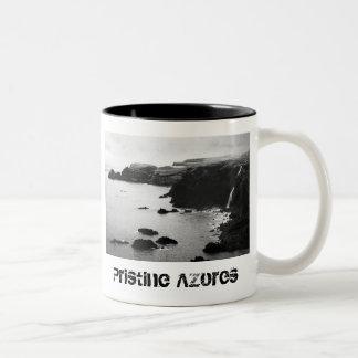Azores coastal landscape Two-Tone coffee mug