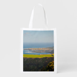 Azores coastal landscape grocery bags