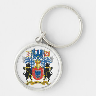 azores coat of arms Silver-Colored round keychain