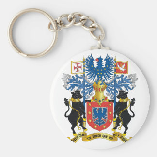 azores coat of arms basic round button keychain