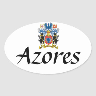 Azores* Crest Oval Sticker