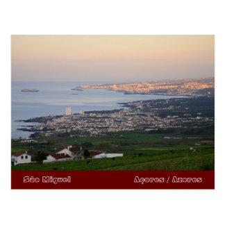 Azores en el amanecer tarjetas postales