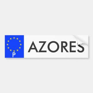 Azores European Union License Plate Sticker Car Bumper Sticker