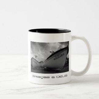Azores fishing boats mug
