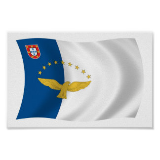 Azores Flag Poster Print
