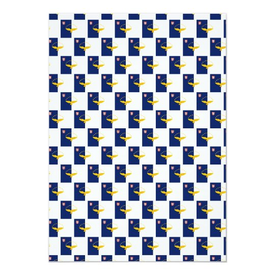 Azores flag seamless pattern card
