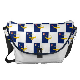 Azores flag seamless pattern courier bag