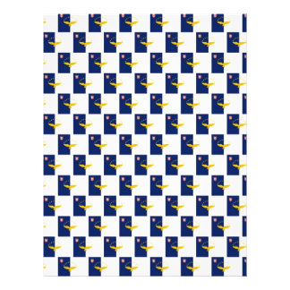 "Azores flag seamless pattern 8.5"" x 11"" flyer"